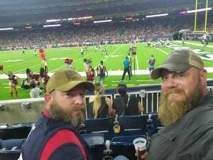Jake attended Houston Texans vs. Tampa Bay Buccaneers - NFL on Aug 28th 2021 via VetTix