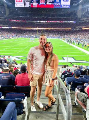 Adam Brown attended Houston Texans vs. Carolina Panthers - NFL on Sep 23rd 2021 via VetTix