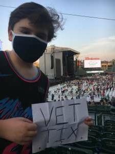 Grateful Dad attended Maroon 5 on Aug 30th 2021 via VetTix