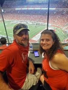 Janel attended University of Wisconsin Badgers vs. Eastern Michigan - NCAA Football on Sep 11th 2021 via VetTix