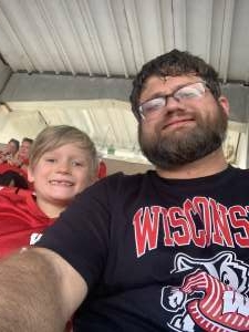 David attended University of Wisconsin Badgers vs. Eastern Michigan - NCAA Football on Sep 11th 2021 via VetTix