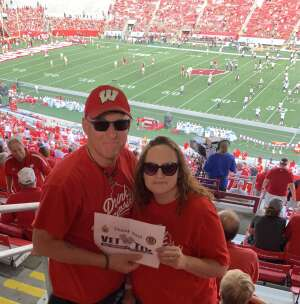 Mike attended University of Wisconsin Badgers vs. Eastern Michigan - NCAA Football on Sep 11th 2021 via VetTix