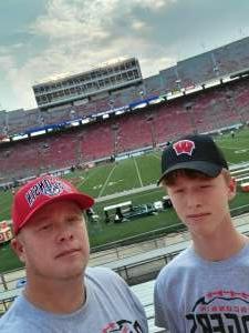 Armyvetcody attended University of Wisconsin Badgers vs. Eastern Michigan - NCAA Football on Sep 11th 2021 via VetTix