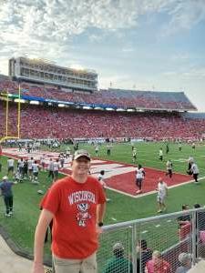 Chris attended University of Wisconsin Badgers vs. Eastern Michigan - NCAA Football on Sep 11th 2021 via VetTix