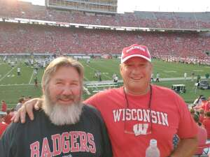 Tom attended University of Wisconsin Badgers vs. Eastern Michigan - NCAA Football on Sep 11th 2021 via VetTix