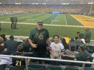 J.R. Gorecki attended Baylor University Bears vs. Texas Southern University Tigers - NCAA Football on Sep 11th 2021 via VetTix