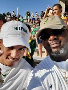 Kenton Davis  attended Baylor University Bears vs. Texas Southern University Tigers - NCAA Football on Sep 11th 2021 via VetTix