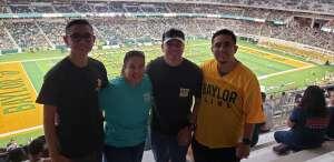 Angie attended Baylor University Bears vs. Texas Southern University Tigers - NCAA Football on Sep 11th 2021 via VetTix