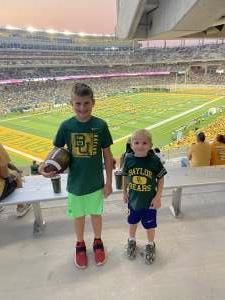 Sean attended Baylor University Bears vs. Texas Southern University Tigers - NCAA Football on Sep 11th 2021 via VetTix