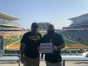 Clayton attended Baylor University Bears vs. Texas Southern University Tigers - NCAA Football on Sep 11th 2021 via VetTix