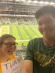 Mike  attended Baylor University Bears vs. Texas Southern University Tigers - NCAA Football on Sep 11th 2021 via VetTix