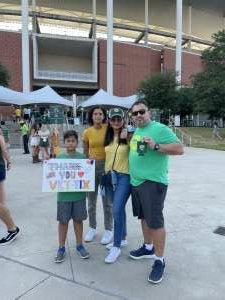 JuanO attended Baylor University Bears vs. Texas Southern University Tigers - NCAA Football on Sep 11th 2021 via VetTix