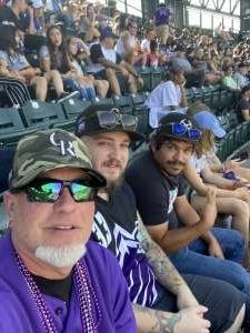 Gunny attended Colorado Rockies vs. Atlanta Braves on Sep 5th 2021 via VetTix
