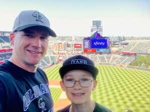 Dan Stone attended Colorado Rockies vs. Atlanta Braves on Sep 5th 2021 via VetTix