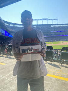 Billingsly attended Colorado Rockies vs. Atlanta Braves on Sep 5th 2021 via VetTix