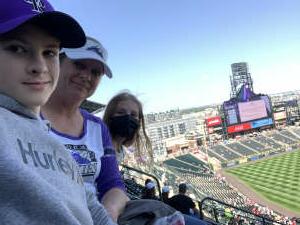 Angie attended Colorado Rockies vs. Atlanta Braves on Sep 5th 2021 via VetTix