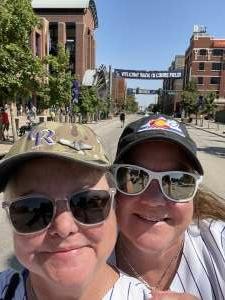 Kellye attended Colorado Rockies vs. Atlanta Braves on Sep 5th 2021 via VetTix