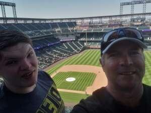 Tim and Jack attended Colorado Rockies vs. Atlanta Braves on Sep 5th 2021 via VetTix