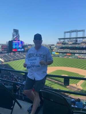 Brandon attended Colorado Rockies vs. Atlanta Braves on Sep 5th 2021 via VetTix