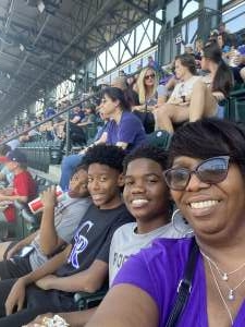 DaShaun McCray USAF attended Colorado Rockies vs. Atlanta Braves on Sep 5th 2021 via VetTix