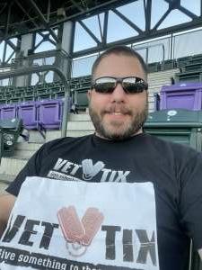 Austin  attended Colorado Rockies vs. Los Angeles Dodgers on Sep 22nd 2021 via VetTix