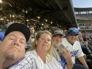 Susan Gillespie  attended Colorado Rockies vs. Los Angeles Dodgers on Sep 22nd 2021 via VetTix