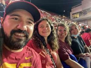 Melissa Vasquez attended USC Trojans vs. Stanford Cardinal - NCAA Football on Sep 11th 2021 via VetTix