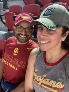 Andrea  attended USC Trojans vs. Stanford Cardinal - NCAA Football on Sep 11th 2021 via VetTix
