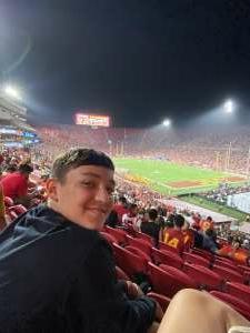 The Adams Family attended USC Trojans vs. Stanford Cardinal - NCAA Football on Sep 11th 2021 via VetTix