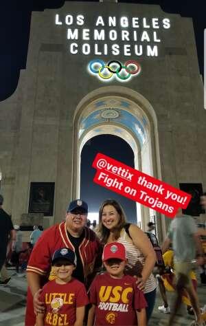 John Saucedo  attended USC Trojans vs. Stanford Cardinal - NCAA Football on Sep 11th 2021 via VetTix