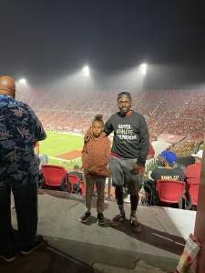 Vet & his daughter attended USC Trojans vs. Stanford Cardinal - NCAA Football on Sep 11th 2021 via VetTix