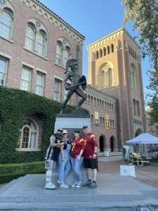 Candi attended USC Trojans vs. Stanford Cardinal - NCAA Football on Sep 11th 2021 via VetTix