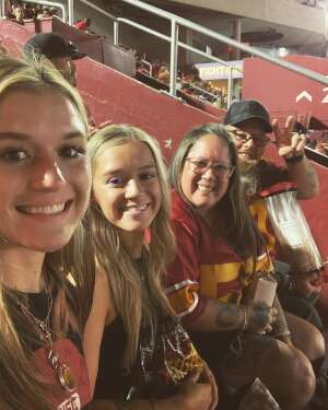 Jason, Melissa and Fam attended USC Trojans vs. Stanford Cardinal - NCAA Football on Sep 11th 2021 via VetTix