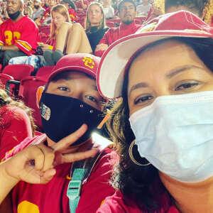 Maria  attended USC Trojans vs. Stanford Cardinal - NCAA Football on Sep 11th 2021 via VetTix