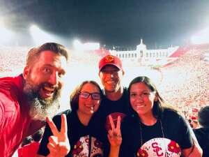 Amy attended USC Trojans vs. Stanford Cardinal - NCAA Football on Sep 11th 2021 via VetTix