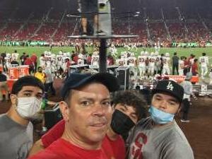 John S. attended USC Trojans vs. Stanford Cardinal - NCAA Football on Sep 11th 2021 via VetTix