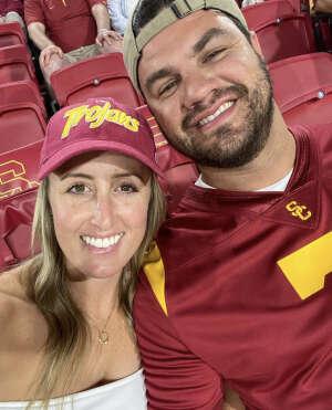 SGT Cebreros  attended USC Trojans vs. Stanford Cardinal - NCAA Football on Sep 11th 2021 via VetTix