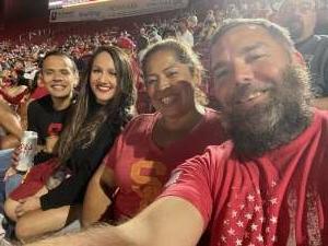 Lily  attended USC Trojans vs. Stanford Cardinal - NCAA Football on Sep 11th 2021 via VetTix