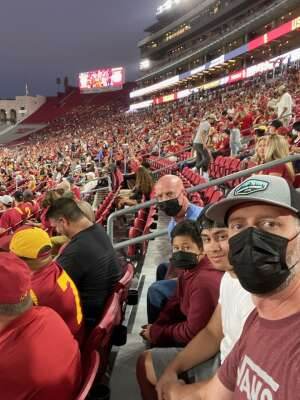 DH attended USC Trojans vs. Stanford Cardinal - NCAA Football on Sep 11th 2021 via VetTix