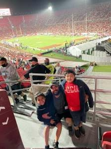 Ray attended USC Trojans vs. Stanford Cardinal - NCAA Football on Sep 11th 2021 via VetTix