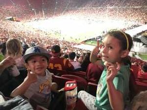 Kim attended USC Trojans vs. Stanford Cardinal - NCAA Football on Sep 11th 2021 via VetTix