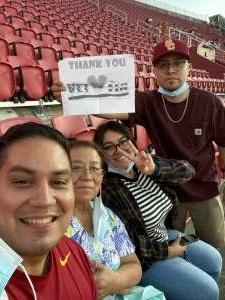 Samuel attended USC Trojans vs. Stanford Cardinal - NCAA Football on Sep 11th 2021 via VetTix