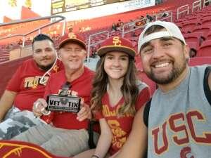 Kenny attended USC Trojans vs. Stanford Cardinal - NCAA Football on Sep 11th 2021 via VetTix