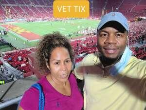 Darryl Aubrey attended USC Trojans vs. Stanford Cardinal - NCAA Football on Sep 11th 2021 via VetTix