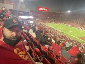 Rob attended USC Trojans vs. Stanford Cardinal - NCAA Football on Sep 11th 2021 via VetTix