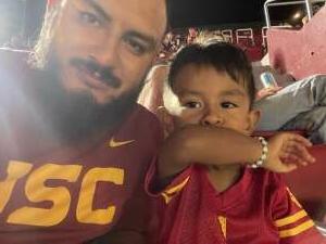 Martin Beltran  attended USC Trojans vs. Stanford Cardinal - NCAA Football on Sep 11th 2021 via VetTix