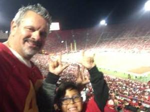 Robert Nava attended USC Trojans vs. Stanford Cardinal - NCAA Football on Sep 11th 2021 via VetTix