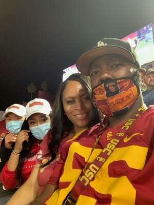 Zane Lawrence  attended USC Trojans vs. Stanford Cardinal - NCAA Football on Sep 11th 2021 via VetTix