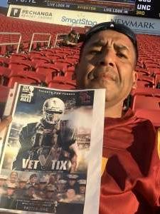 Raul attended USC Trojans vs. Stanford Cardinal - NCAA Football on Sep 11th 2021 via VetTix