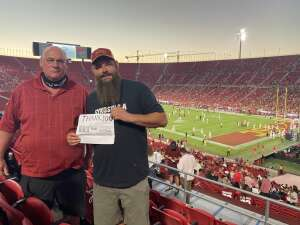Stuart Smith attended USC Trojans vs. Stanford Cardinal - NCAA Football on Sep 11th 2021 via VetTix
